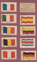 Cigarette-trade cards set 1918 Wilbur-Suchard chocolate co. USA  Flags  RARE#264